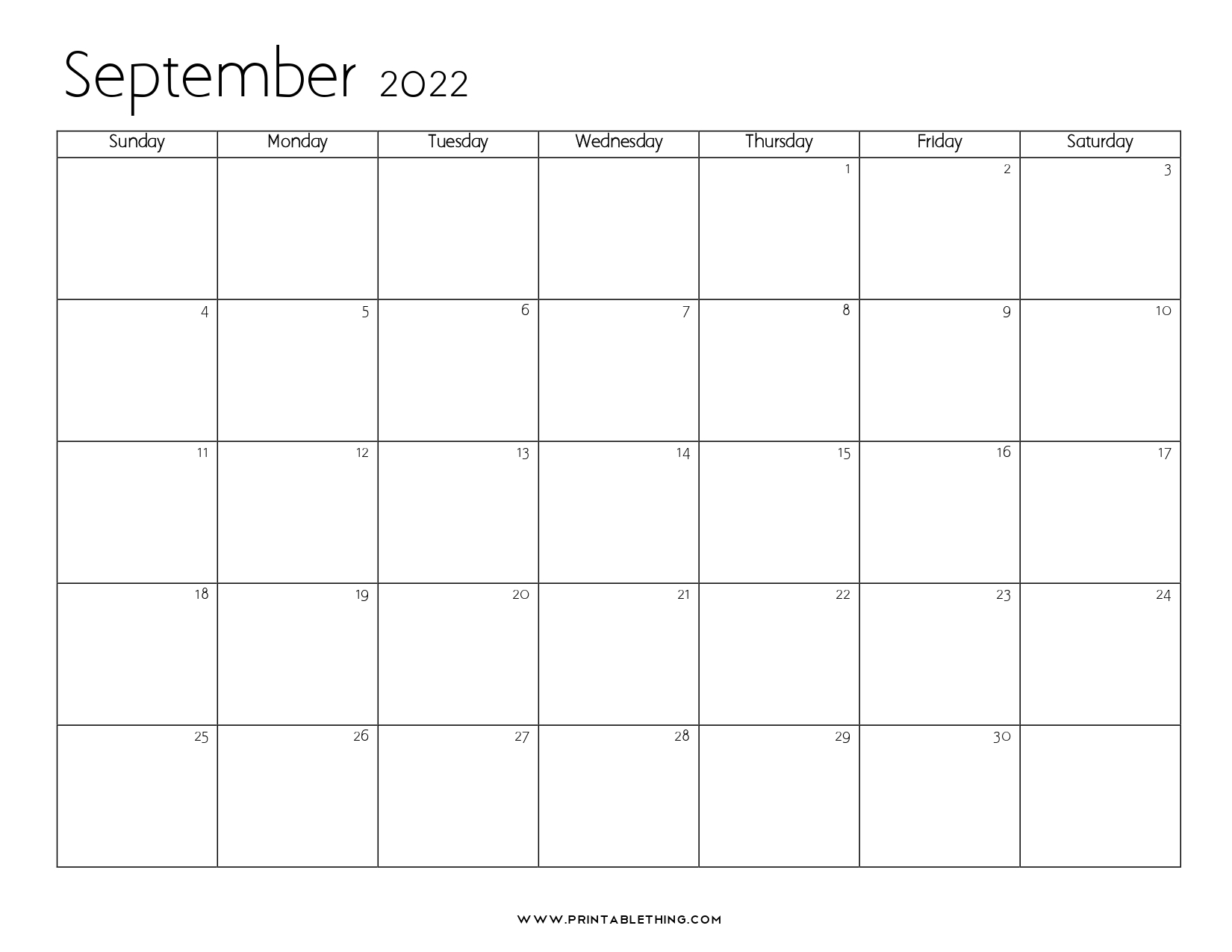 Blank September 2022 Calendar.20 September 2022 Calendar Printable Pdf Us Holidays Blank