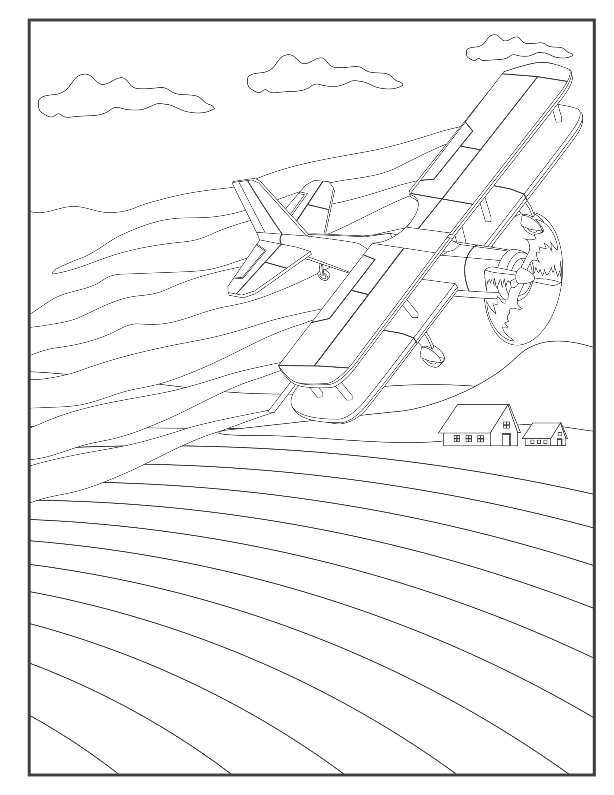Printable Airplane Coloring Pages For Toddlers Preschool Kindergarten