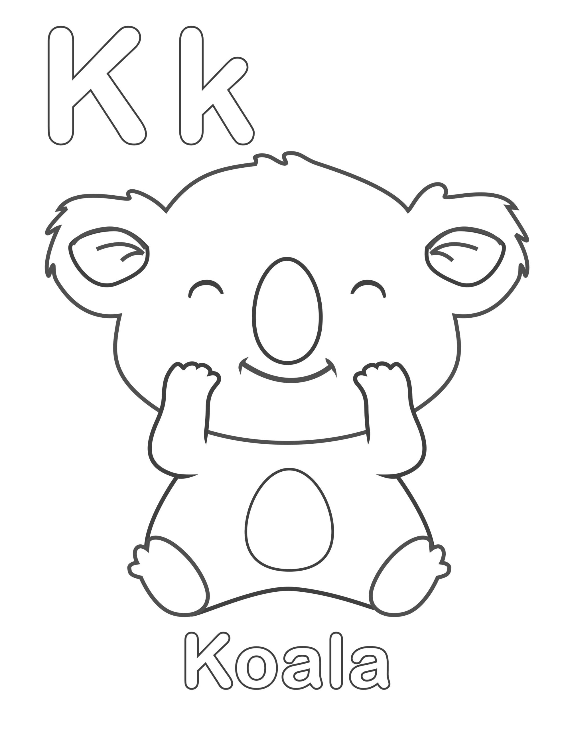 alphabet coloring pages printable