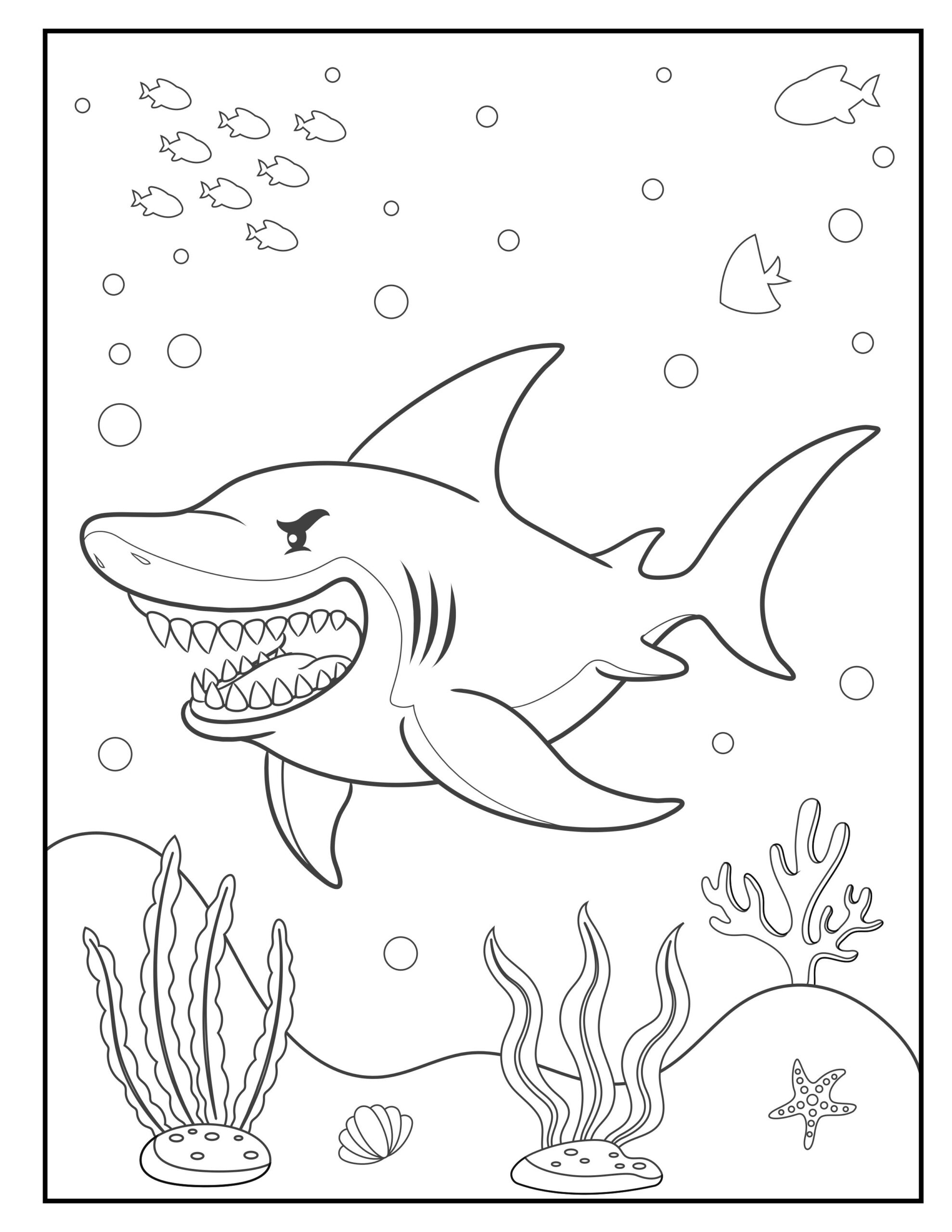 fish animal coloring pages