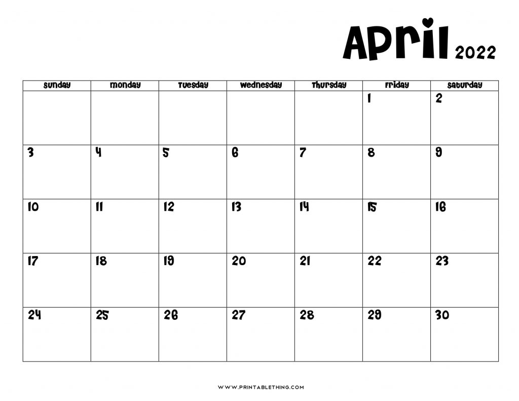 20+ April 2022 Calendar | Printable, PDF, US Holidays ...