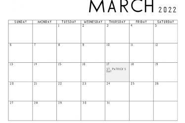March-2022-Calendar-Printable