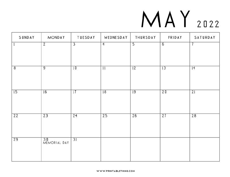 May-2022-Calendar-Printable
