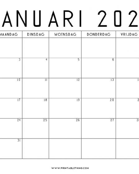 januari 2022 kalender